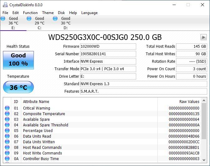 WD Black SN750 SSD 6