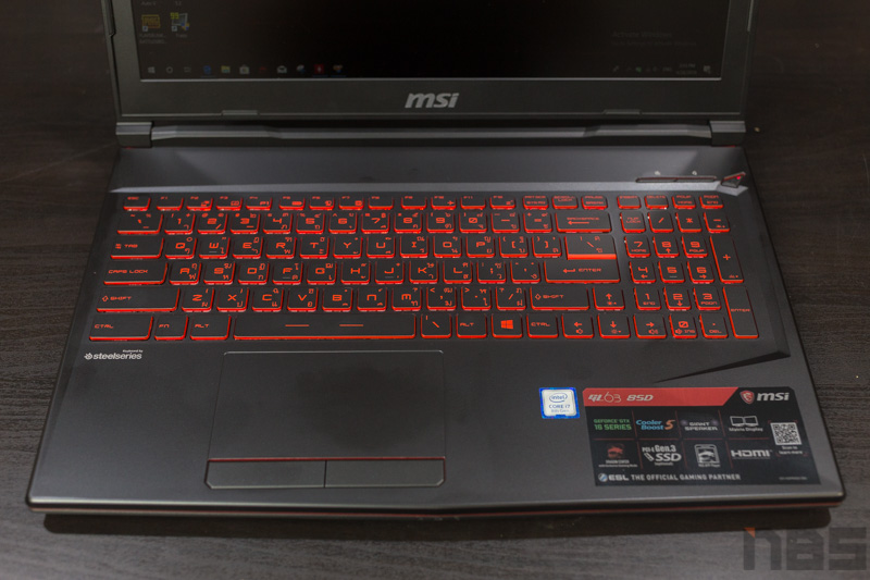 MSI GL63 8SD Review 1