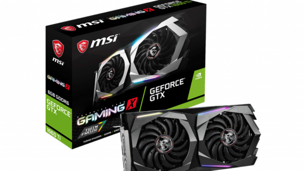 MSI GeForce GTX 1660 Ti Gaming X now available early April 2019