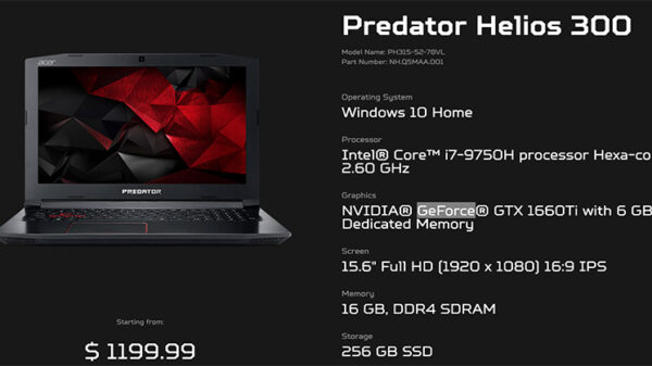 Predator specs PH315 52