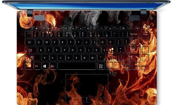 Uacuteltimas 2015 pegatinas de ordenador portaacutetil personalizar PVC Skins impermeable ABC lados Keys tecla Interstice pegatinas