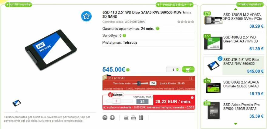 WD Blue SSD 4T 2