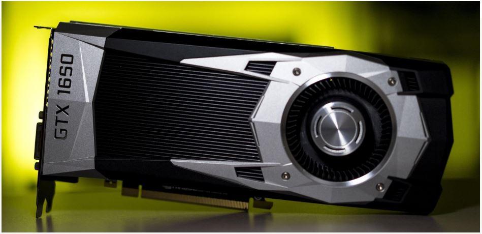 nVIDIA GeForce GTX 1650 card