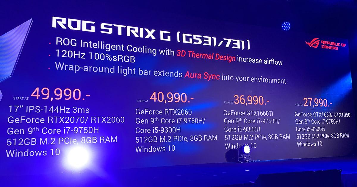 ASUS ROG Strix G531 price