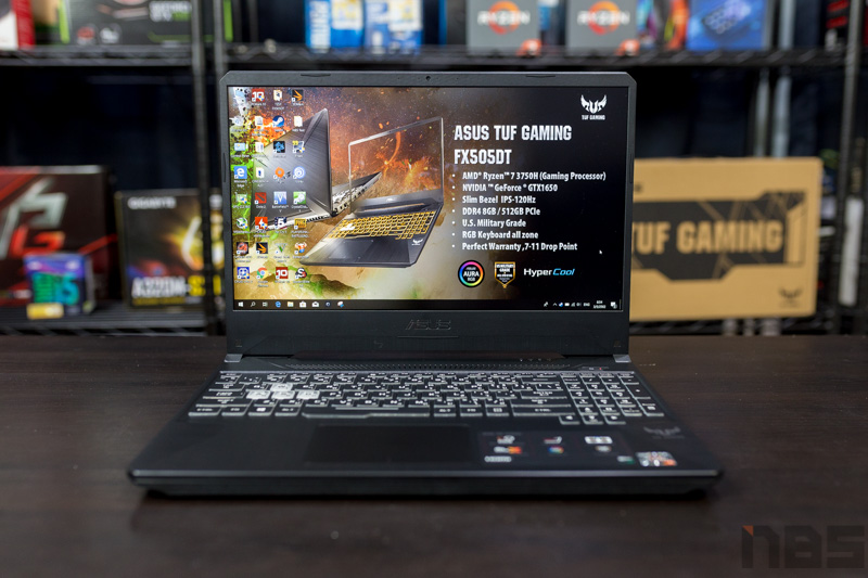 ASUS TUF FX505DT NBS Review 5