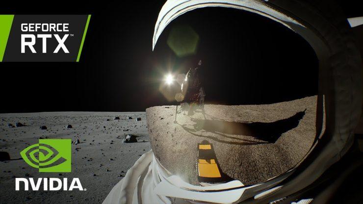 nvidia rtx lunar landing reflection