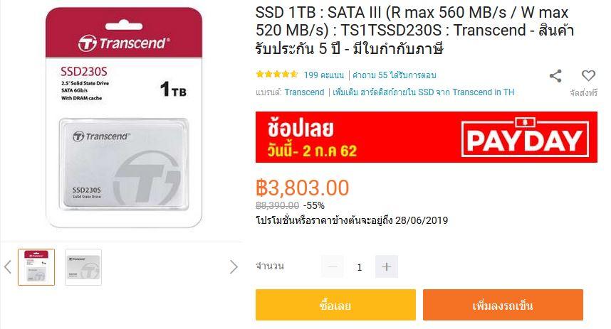 รวมมิตร SSD 1 TB ราคาดี จนต้องโดน เริ่มเพียง 3,750 บาท