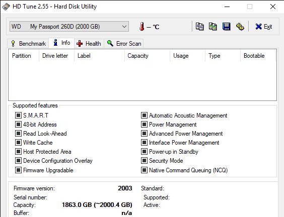 HD Tune 2.55 Hard Disk Utility 6 11 2019 10 42 23 AM