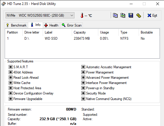 HD Tune 2.55 Hard Disk Utility 6 12 2019 3 26 37 PM