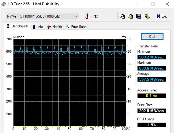 HD Tune 2.55 Hard Disk Utility 6 19 2019 10 59 28 AM