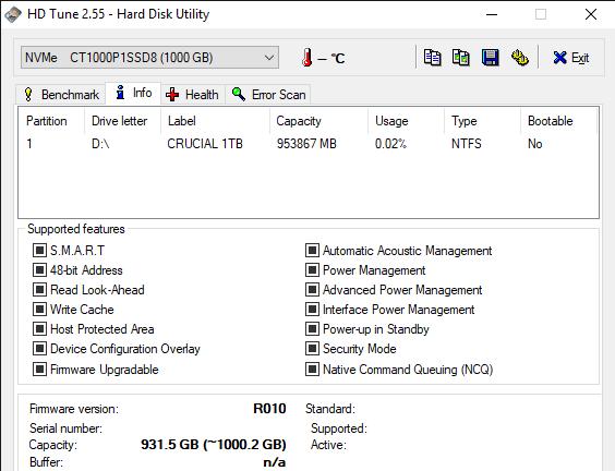 HD Tune 2.55 Hard Disk Utility 6 19 2019 10 59 32 AM