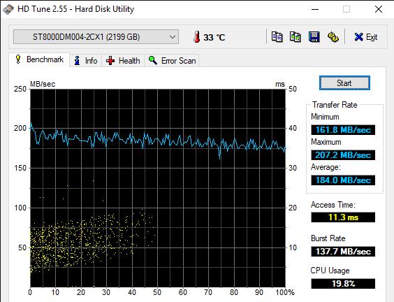 HD Tune 2.55 Hard Disk Utility 6 26 2019 11 29 14 AM