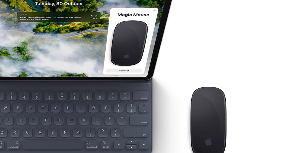 ipad support mouse