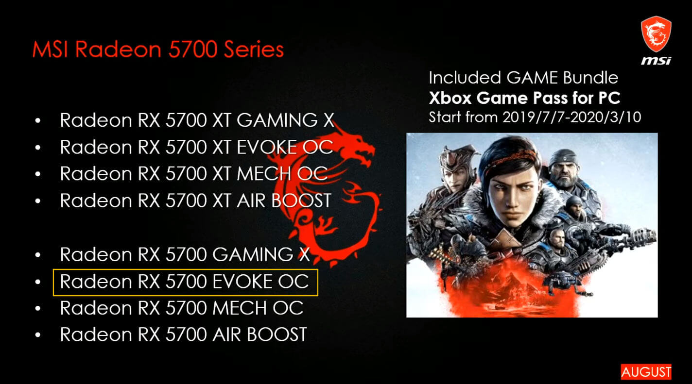 66660 04 msi confirms radeon rx 5700 xt mech cards launch august