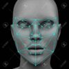 88790747 biometric facial recognition without hair 3d rendering