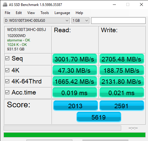 AS SSD Benchmark 1.9.5986.35387 7 8 2019 1 47 41 PM