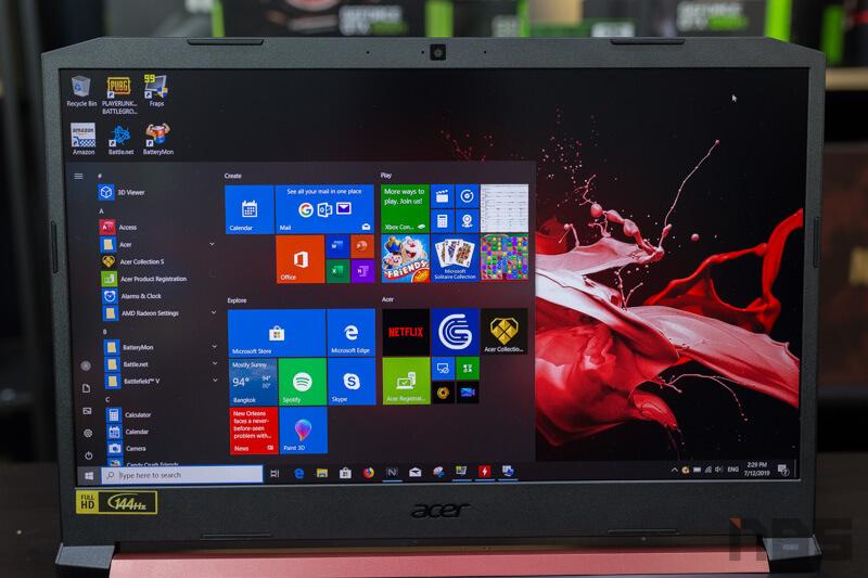 Review – Acer Nitro 5 : AMD Ryzen 5 3550H + RX560X + RAM 8 + SSD 512