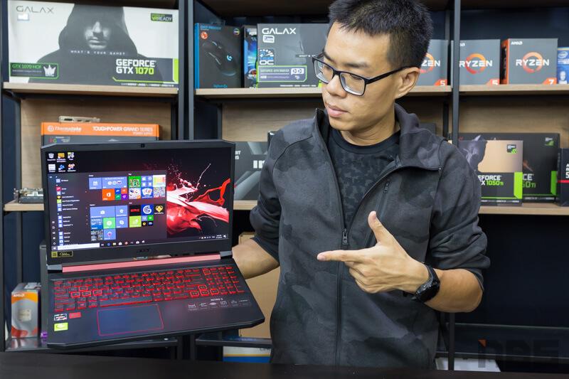 Review - Acer Nitro 5 : AMD Ryzen 5 3550H + RX560X + RAM 8 + SSD 512