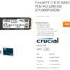 Crucial 1TB M2 1