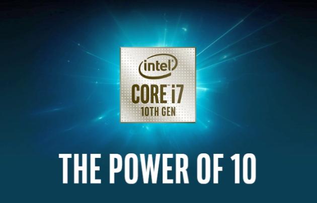 Intel Core i7 10th gen presentation teaser