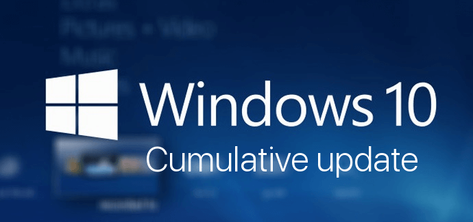 Windows 10 banner cumulative updates