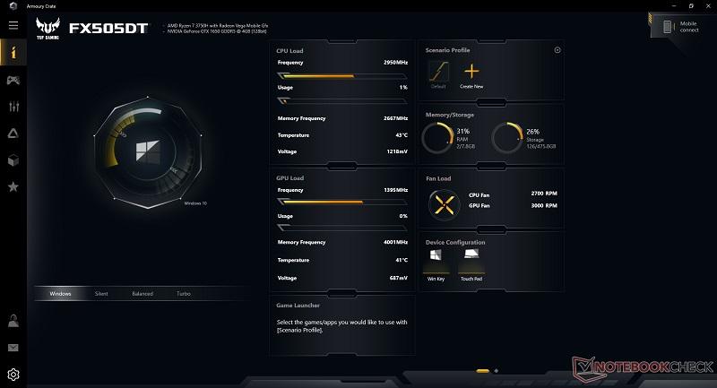 ASUS - ซอฟต์แวร์ Armoury Crate power profiles ดูเหมือนจะไม่