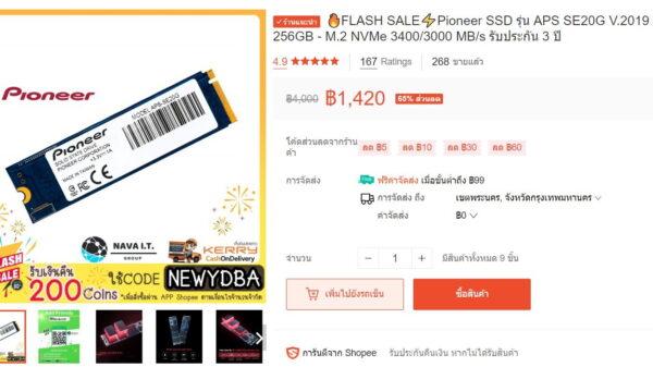 Pioneer SSD 256GB NVMe Copy