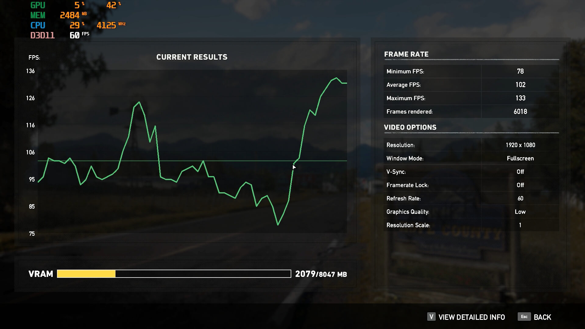 RX5700 Farcry5 low