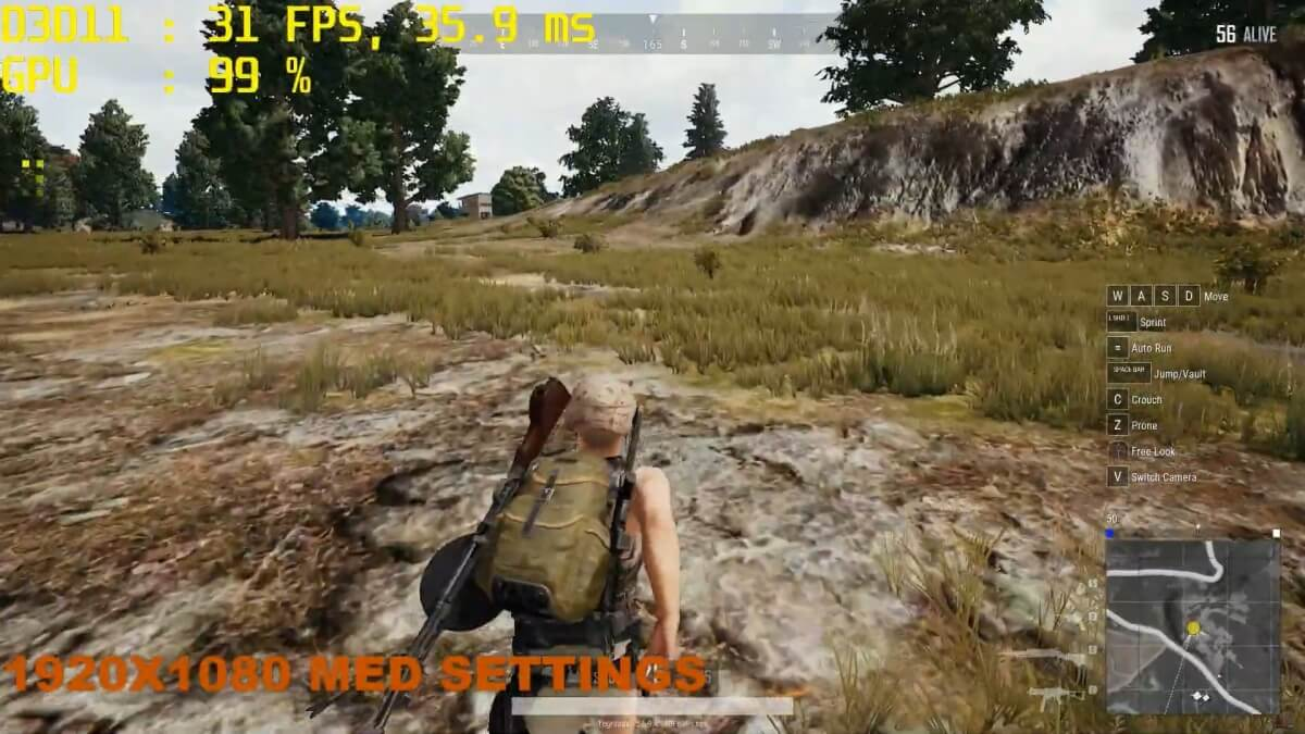 PUBG GAMING MX 250 Benchmark PLAYERUNKNOWNS BATTLEGROUNDS YouTube.mp4 snapshot 06.49.824