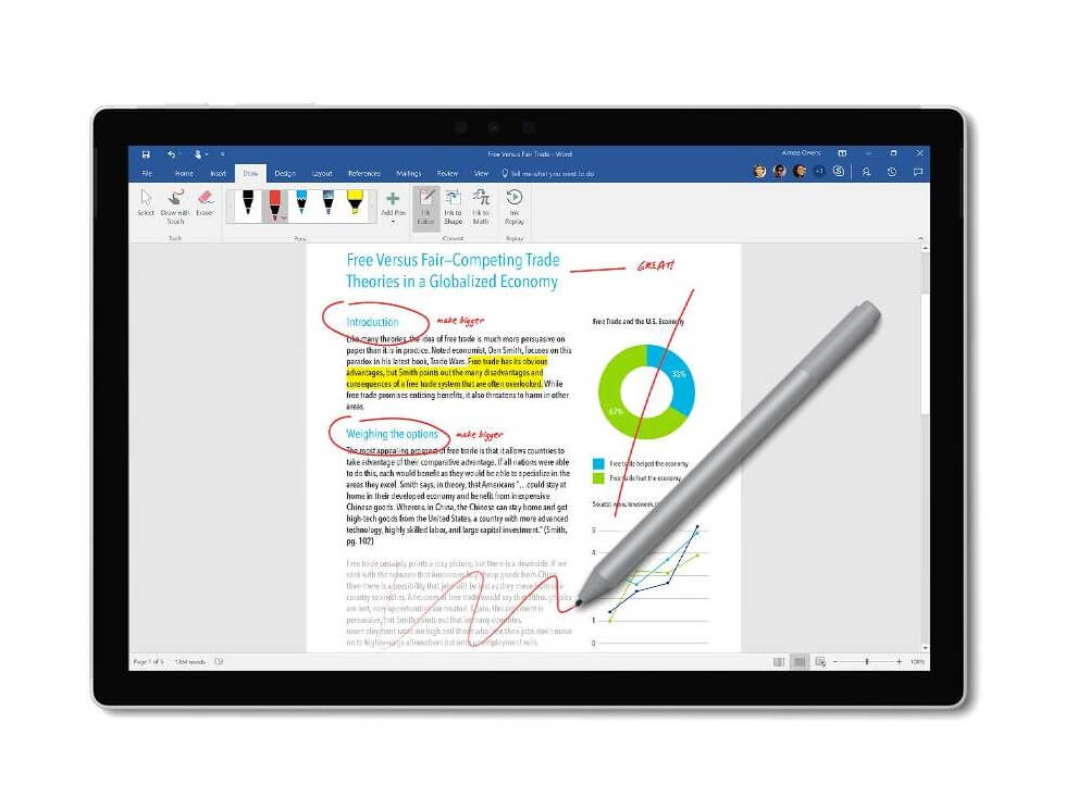 Surface Pen 2019 mit Wireless Charging