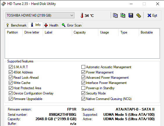HD Tune 2.55 Hard Disk Utility 10 15 2019 4 49 44 PM