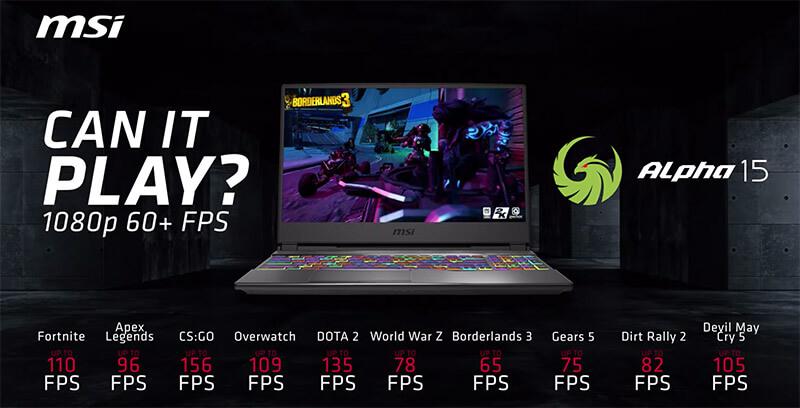 msi alpha 15 AMD Gaming Notebook p6