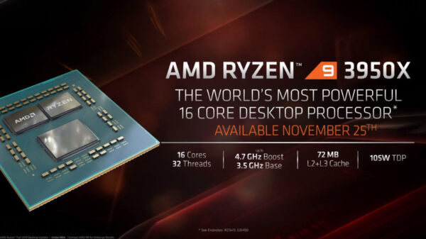 AMD Ryzen 9 3950X CPU 1