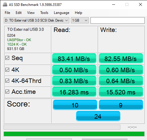 AS SSD Benchmark 1.9.5986.35387 11 6 2019 2 00 45 PM