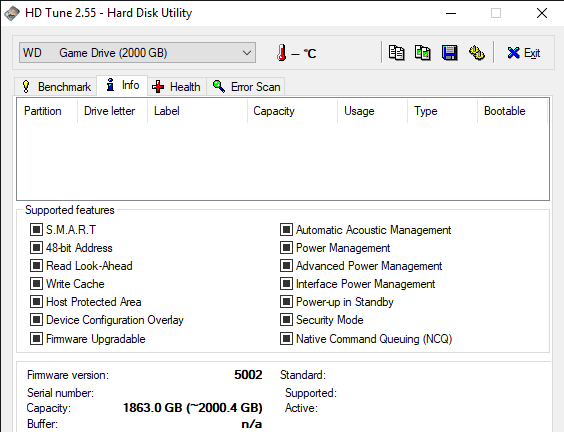 HD Tune 2.55 Hard Disk Utility 11 12 2019 11 00 19 AM