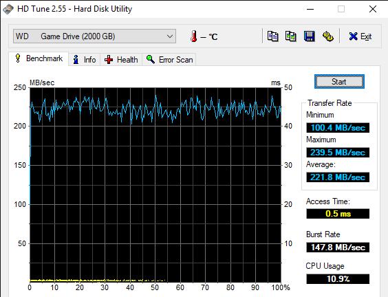 HD Tune 2.55 Hard Disk Utility 11 12 2019 11 09 51 AM