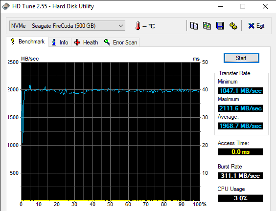 HD Tune 2.55 Hard Disk Utility 11 15 2019 2 00 06 AM