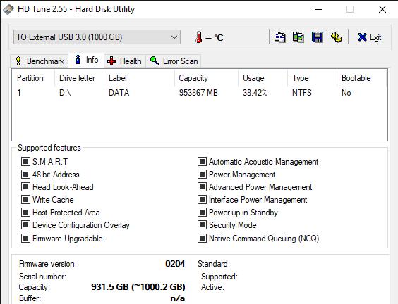 HD Tune 2.55 Hard Disk Utility 11 6 2019 10 54 00 AM