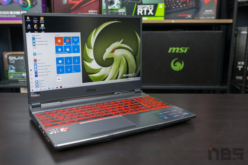 MSI Alpha 15 AMD NBS Review 32