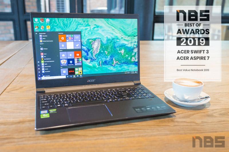 Acer Aspire 7 2019 NBS award