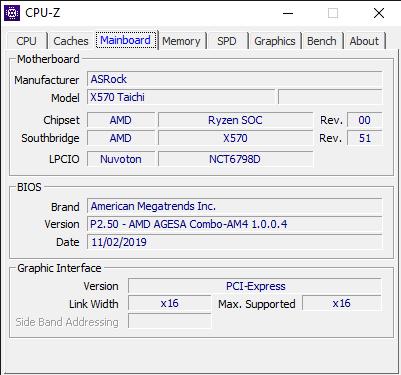CPU Z 12 11 2019 2 03 32 PM