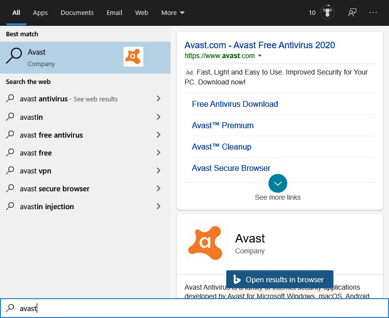 Avast Free Antivirus is a very popular topic in Bing search