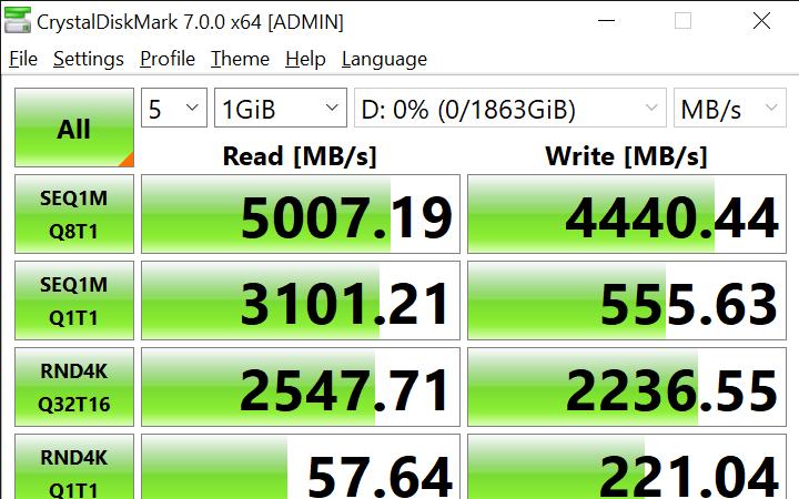 CrystalDiskMark 7.0.0 x64 ADMIN 1 9 2020 12 38 56 PM