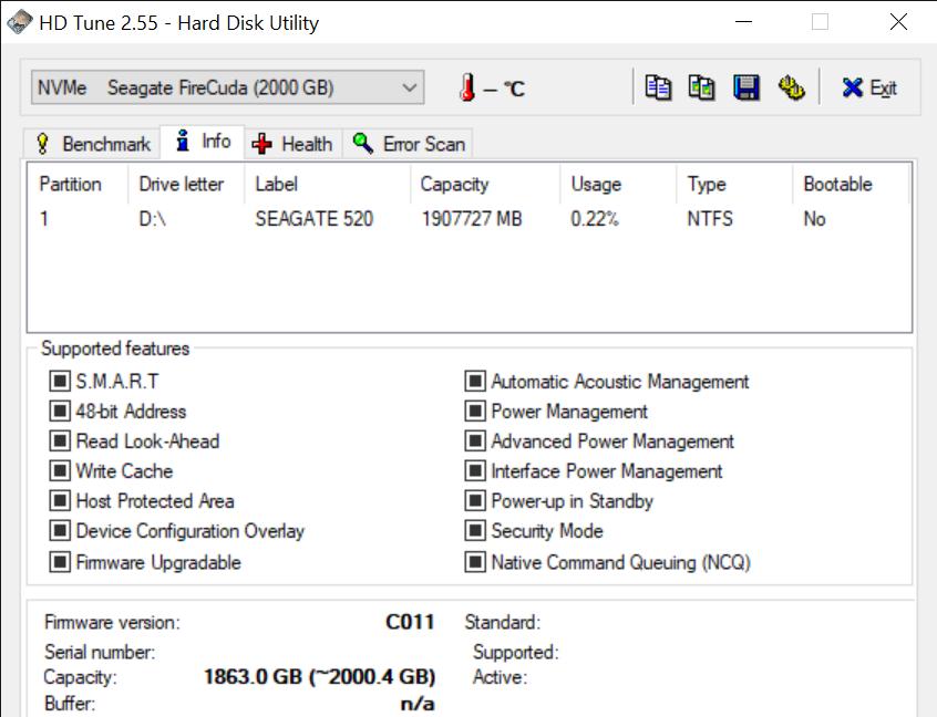 HD Tune 2.55 Hard Disk Utility 1 9 2020 12 19 40 PM