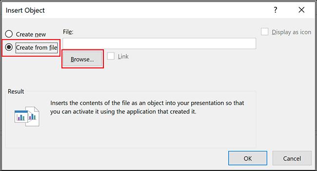 PowerPoint Insert Object Menu