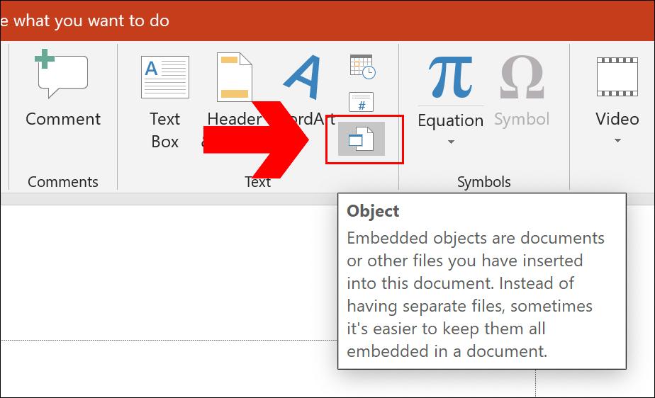 PowerPoint Insert Object