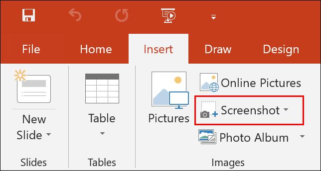 PowerPoint Insert Screenshot