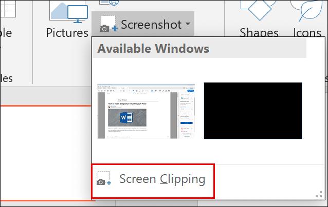 PowerPoint Screenshot Screen Clipping