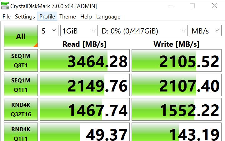 CrystalDiskMark 7.0.0 x64 ADMIN 2 11 2020 11 47 49 AM