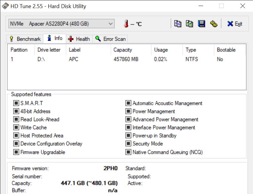 HD Tune 2.55 Hard Disk Utility 2 11 2020 11 23 57 AM